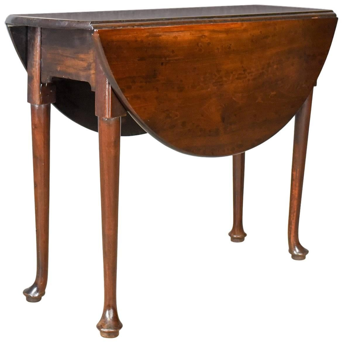 Superieur Antique Drop Leaf Table, Mahogany, English, Georgian, Dining, Circa 1760