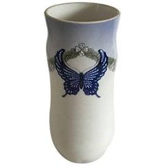 Royal Copenhagen Art Nouveau Vase with Butterfly 1395/76