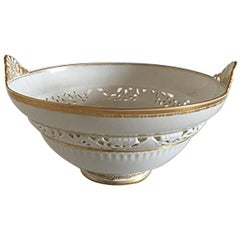 Royal Copenhagen Art Nouveau Bowl with Piercing Flowers #1512