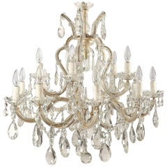 Large Maria Theresa Sixteen-Light Chandelier