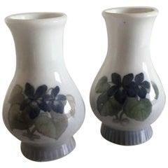 Royal Copenhagen Art Nouveau Pair of Vases #1900/1587