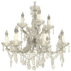 "Large Maria Theresa Twelve-Light Chandelier (24"" Diameter)"