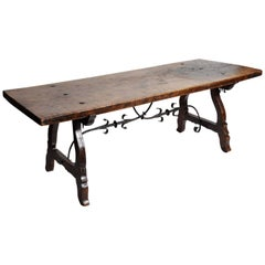 Early 20th Century Spanish Baroque-Style Trestle Table