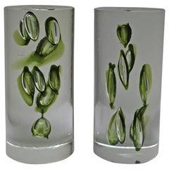 Mid-Century Modern Antonio da Ros Italian Glass Bookends, circa 1960s
