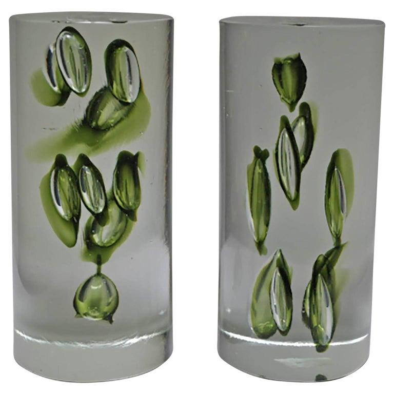 Mid-Century Modern Antonio da Ros Italian Glass Bookends, circa 1960s For Sale