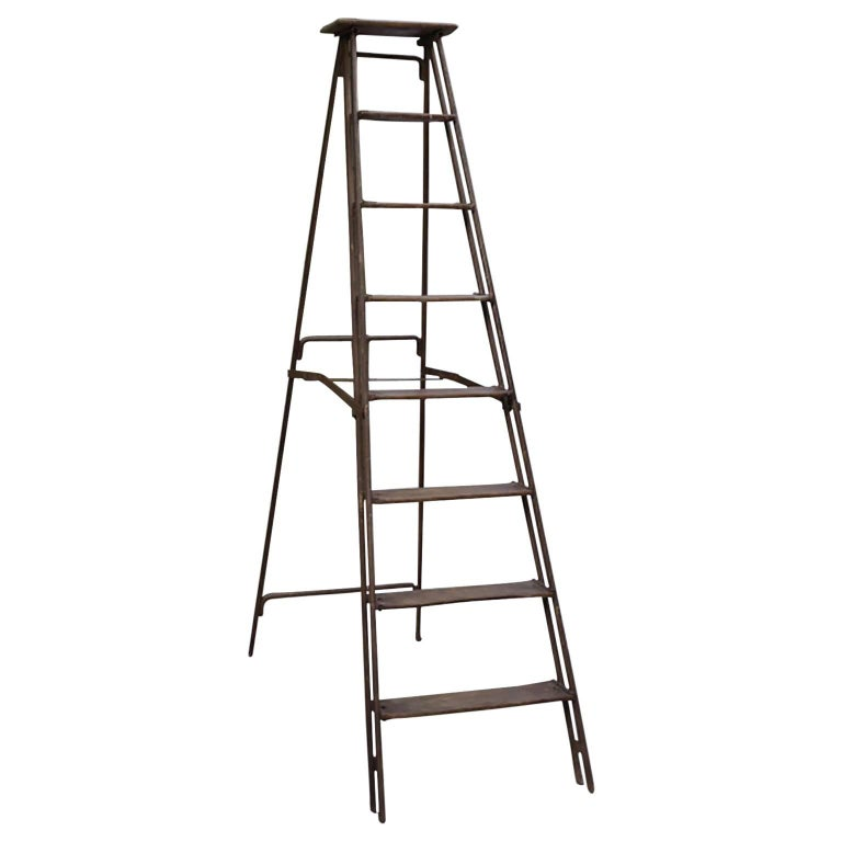 1930s Steel and Wood Ladder For Sale
