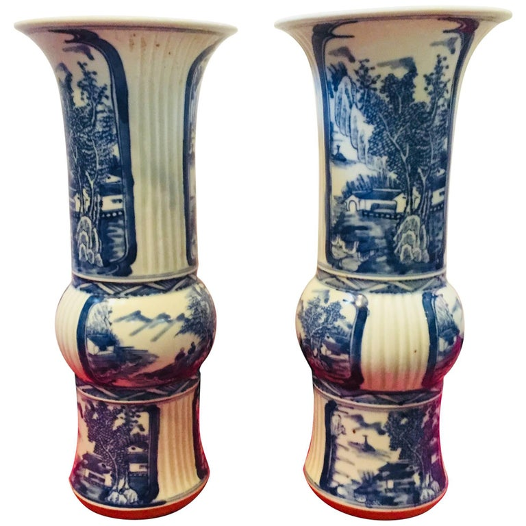 Blue and White Chinese Vases For Sale