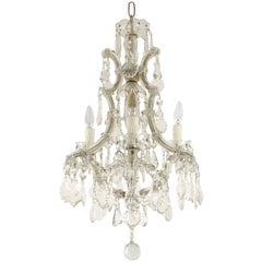 "Italian Maria Theresa Four-Light Chandelier (17"" Diameter)"