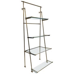1950s French Bronze Wall Mounted and Freestanding Etagere