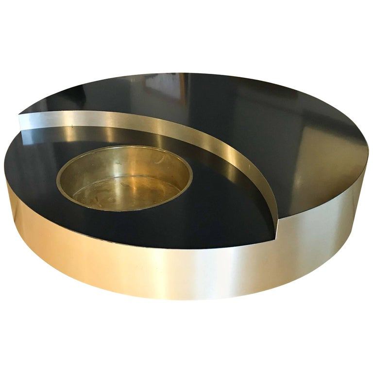 Willy Rizzo TRG Revolving Coffee Table