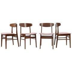 Set of Four Teak Chairs, SAX, Denmark, 1960