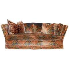 Velvet Upholstered Knole Settee