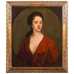 18th Century Portrait of a Lady Circle of Michael Dahl, Oil on Canvas