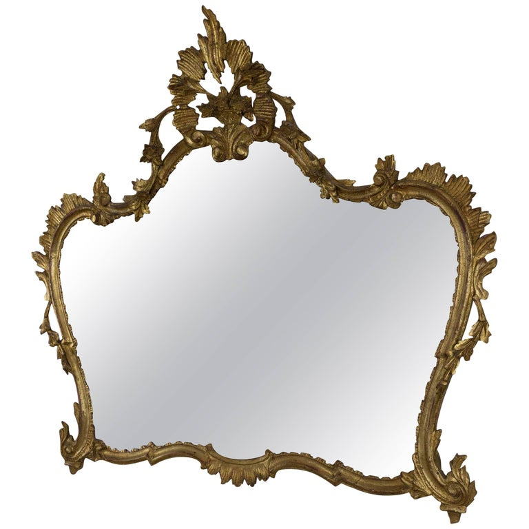Louis XV Style Carved Horizontal Mirror