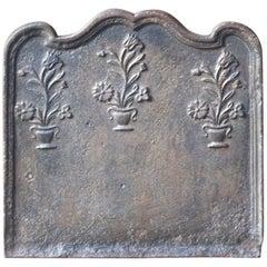 18th Century French 'Flower Basket' Fireback
