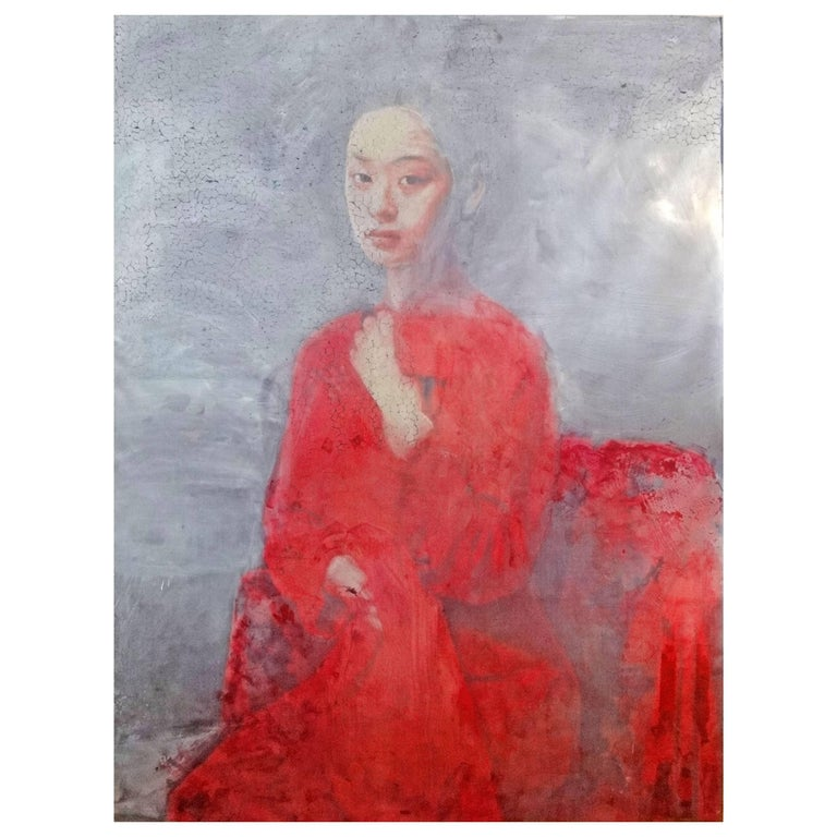 'Untitled 2013 - Lady in Red' by Didier Mahieu For Sale