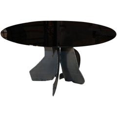 Flair Edition Sculptural Brutalist Steel Dining Table