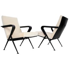 Set of Midcentury Lounge Chairs in Velvet Model Repose by Friso Kramer, 1960