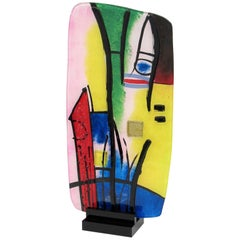 Striking Large Multicolored Murano Abstract Picasso Style Sculpture, Italy