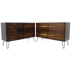 Set of Two Upcycled Palisander Sideboards by Omann Jun