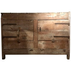 Beautiful and Very Large Rustic Late 17th Century Rural Stock Cabinet