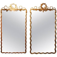 Pair of Napoleon III Giltwood Mirrors
