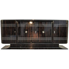 Art Deco Design Sideboard Made of Macassar