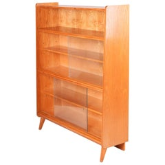 Midcentury Ash Display Cabinet from Czechoslovakia by Tatra Nabytok