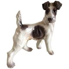 Dahl Jensen Standing Fox Terrier Dog #1001 Figurine