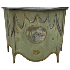 George III-Style Painted Side Cabinet