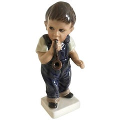 Dahl Jensen Figurine of a Boy with Pipe #1027
