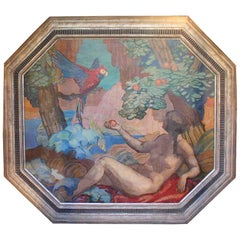 Paradise, an Art Deco Painting by Puig