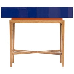 Hollywood Style High Gloss Lacquered Wood Console Dominical