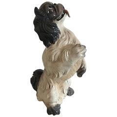 Dahl Jensen Figurine of Dog, Large Pekingese #1169