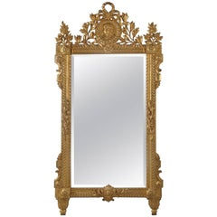 Louis XVI Style Carved Giltwood Mirror