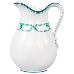 French Vintage Ceramic Pitcher, 1950s