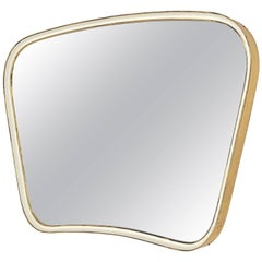 Brass and Enameled Mirror, 1950s