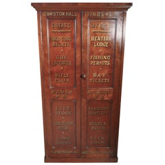 Victorian Burr Elm Estate Cupboard