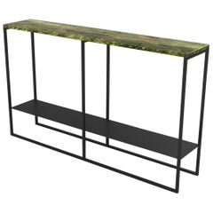 Contemporary Eros Console in Marble and Powder Coated Steel
