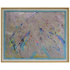 Anne Boysen Large Modern Abstract Painting on Paper
