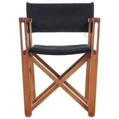 Mid-Century Modern Scandinavian Outdoor Dining Chair in Solid Teak by Hulten