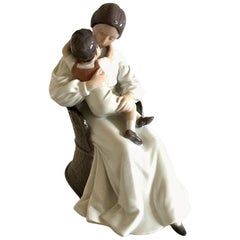 Bing & Grondahl Figurine of Mother and Child in Chair #1552