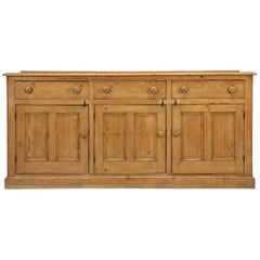 Antique English Pine Buffet, Sideboard or Dresser Base, circa 1900