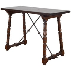 Spanish Walnut and Wrought Iron Table, Early 18th Century