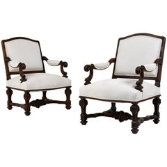 Pair of 19th Century French Louis XVI-Style Armchairs