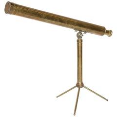 Vintage Brass Tabletop Telescope