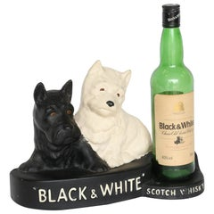Black and White Whisky Bottle Stand