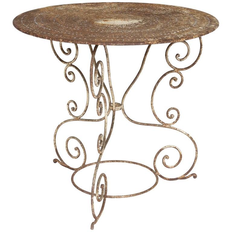 Iron Garden Table, France