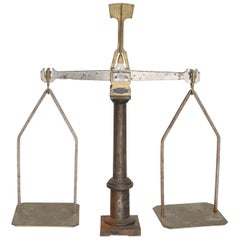 Iron and Brass Trayvou Balance Scale