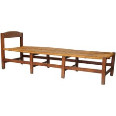 French Rush Seat Bench, circa 1870